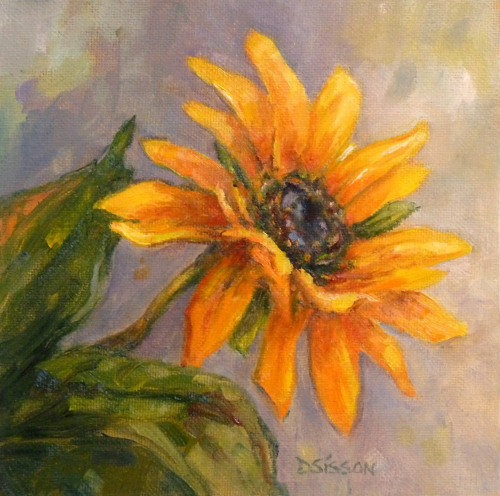 Daily Painting Projects: Sunflower Wave Oil Painting ...
