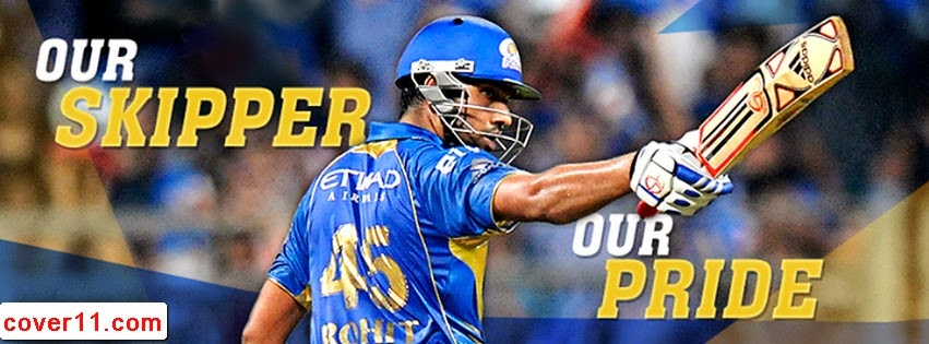 Rohit Sharma Mumbai Indians Facebook Covers