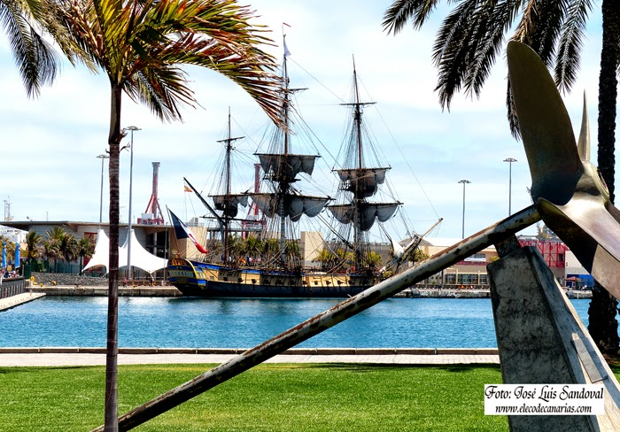 Fotos fragata francesa L Hermione, Las palmas de Gran Canaria