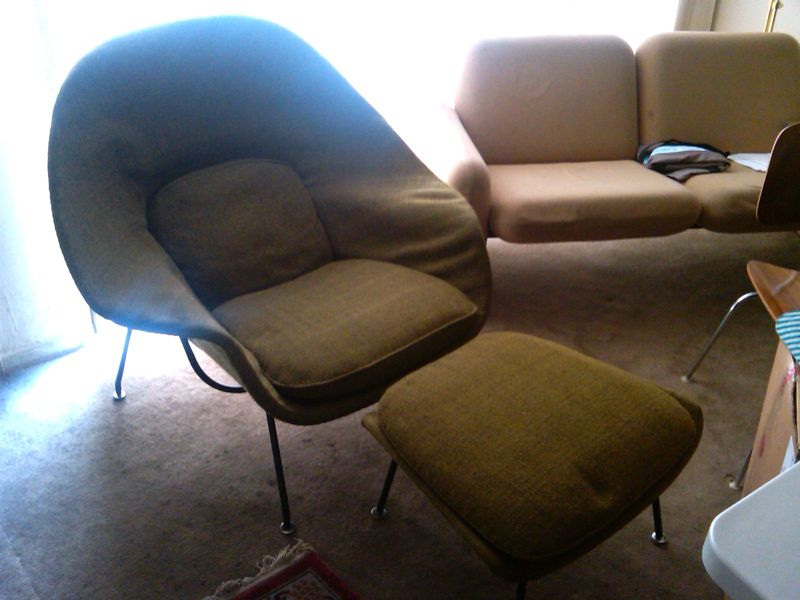 Classic design beautiful womb chair restorations reupholstery - Vintage womb chair for sale ...