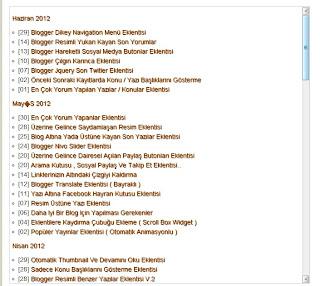 Blogger Sitemap eklentisi