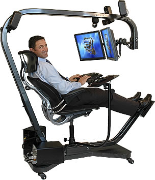 this is a picture of an ergonomic office design it demonstrates a few