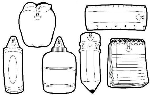 Imagenes de utiles escolares para colorear CRAYONES - Imagui