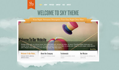 Sky - ElegantThemes Premium Wordpress Theme - PSD + Template
