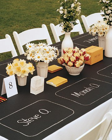 western wedding runner kraft paper