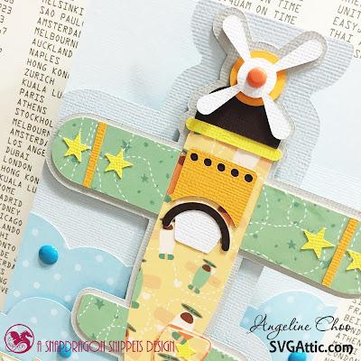 SVG Attic: Birthday plane card with Angeline Choo #svgattic #scrappyscrappy #card #readyfortakeoff