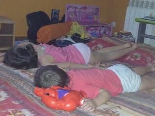 niños, hijos, siesta, verano, vacaciones