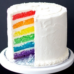 gambar rainbow Cake