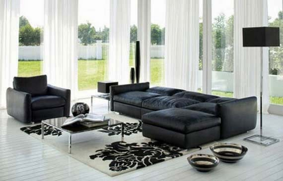 Living Room Colour Schemes With Black Sofa