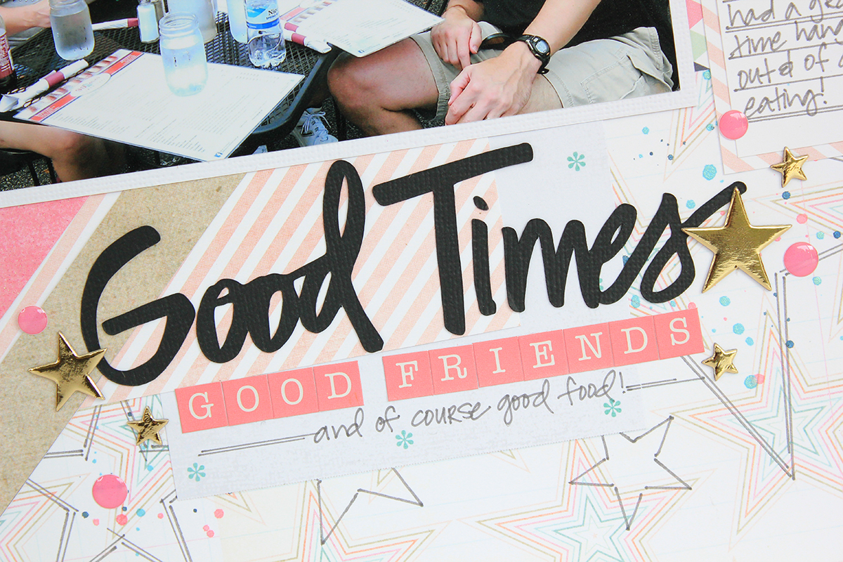 Good Times Scrapbook Page by #julianamichaels #freedigitalcutfile #digitalcutfile #scrapbookpage #17turtles