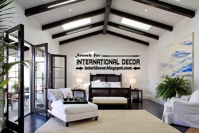 Contemporary false ceiling beams designs for bedroom 2015, bedroom ceiling beams