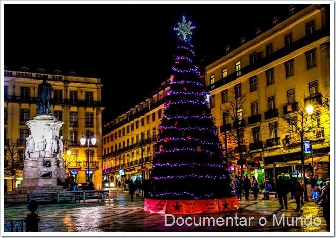 Praça Camões; Iluminação de Natal