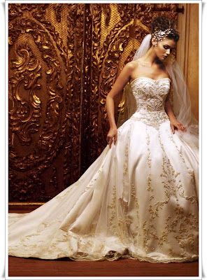 Beautiful Ivory Embroidered Wedding Dress