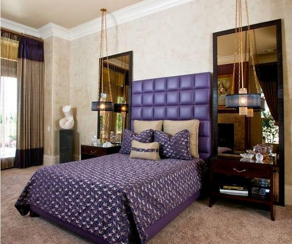 10 id es vibrantes de chambre pourpre d cor de maison d coration chambre. Black Bedroom Furniture Sets. Home Design Ideas