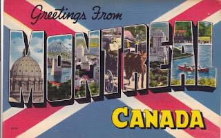 Carte postale Montréal vintage