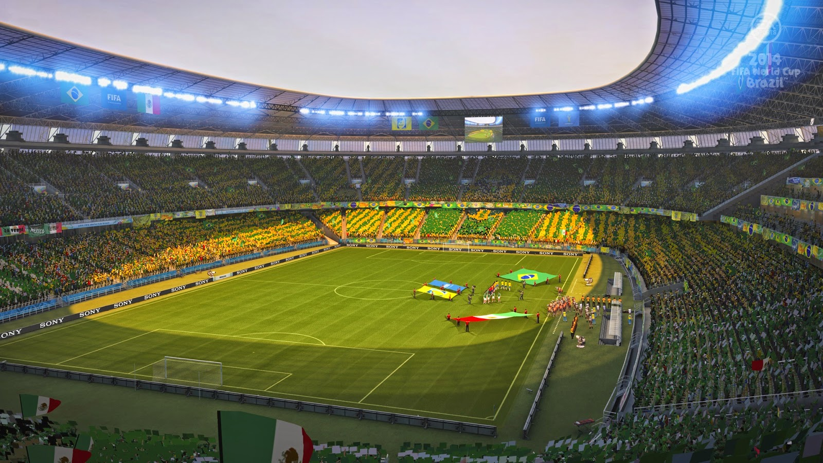 2014 FIFA World Cup Brazil one football game