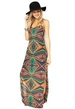 Vestido Feminino Mercatto Geométrico Verde