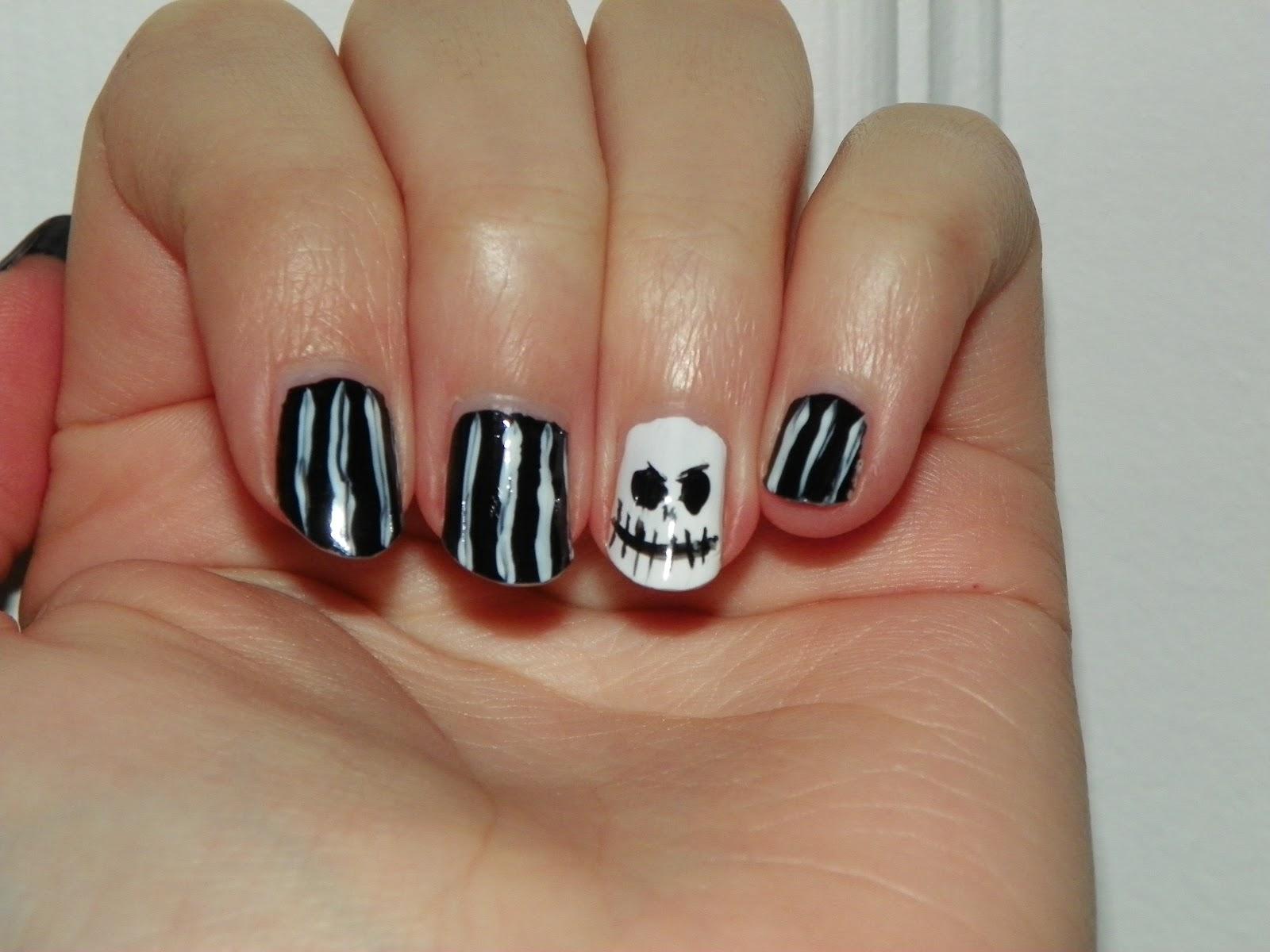 Medieval Luck}: Halloween Nails: Jack Skellington