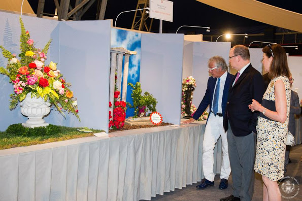 Princess Caroline And Prince Albert attends The International Concours De Bouquets