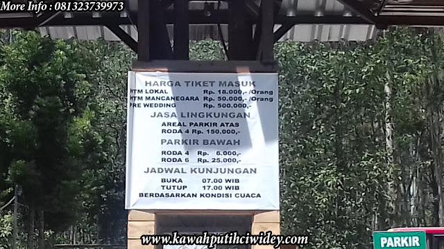 Harga Tiket Masuk Kawah Putih Ciwidey Bandung 2016