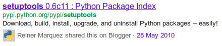 Búsqueda de Google muestra enlaces compartidos en Blogger