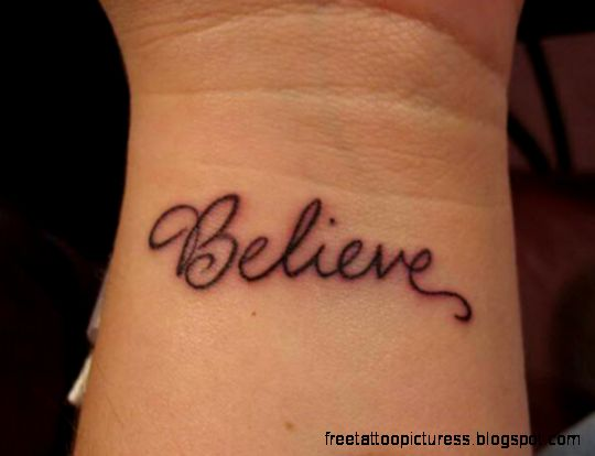 25 Impressive One Word Tattoos   SloDive
