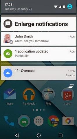 Big Notifications Launcher Android Terbaru