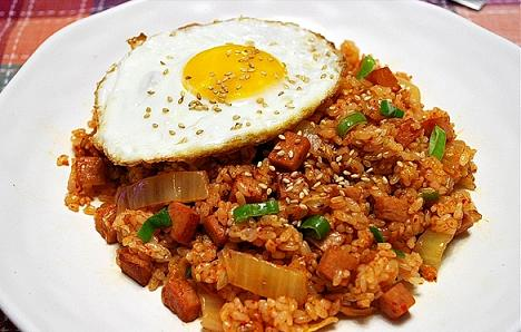 ... fried rice kimchi bokkeumbap is a bit different from chinese fried