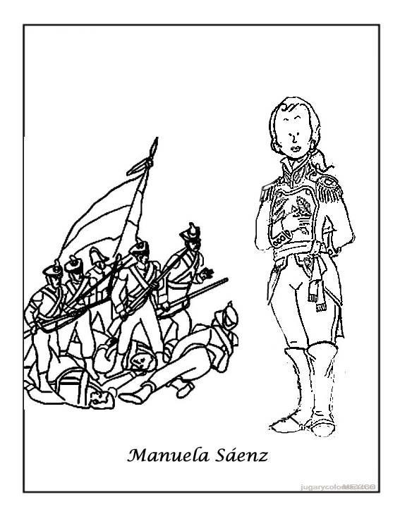 Aprendamos con las TIC: Dibujos para colorear de la Independencia ...