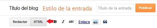 HTML de una entrada