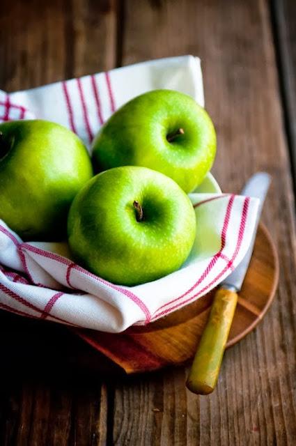 risotto con mele verdi e pecorino