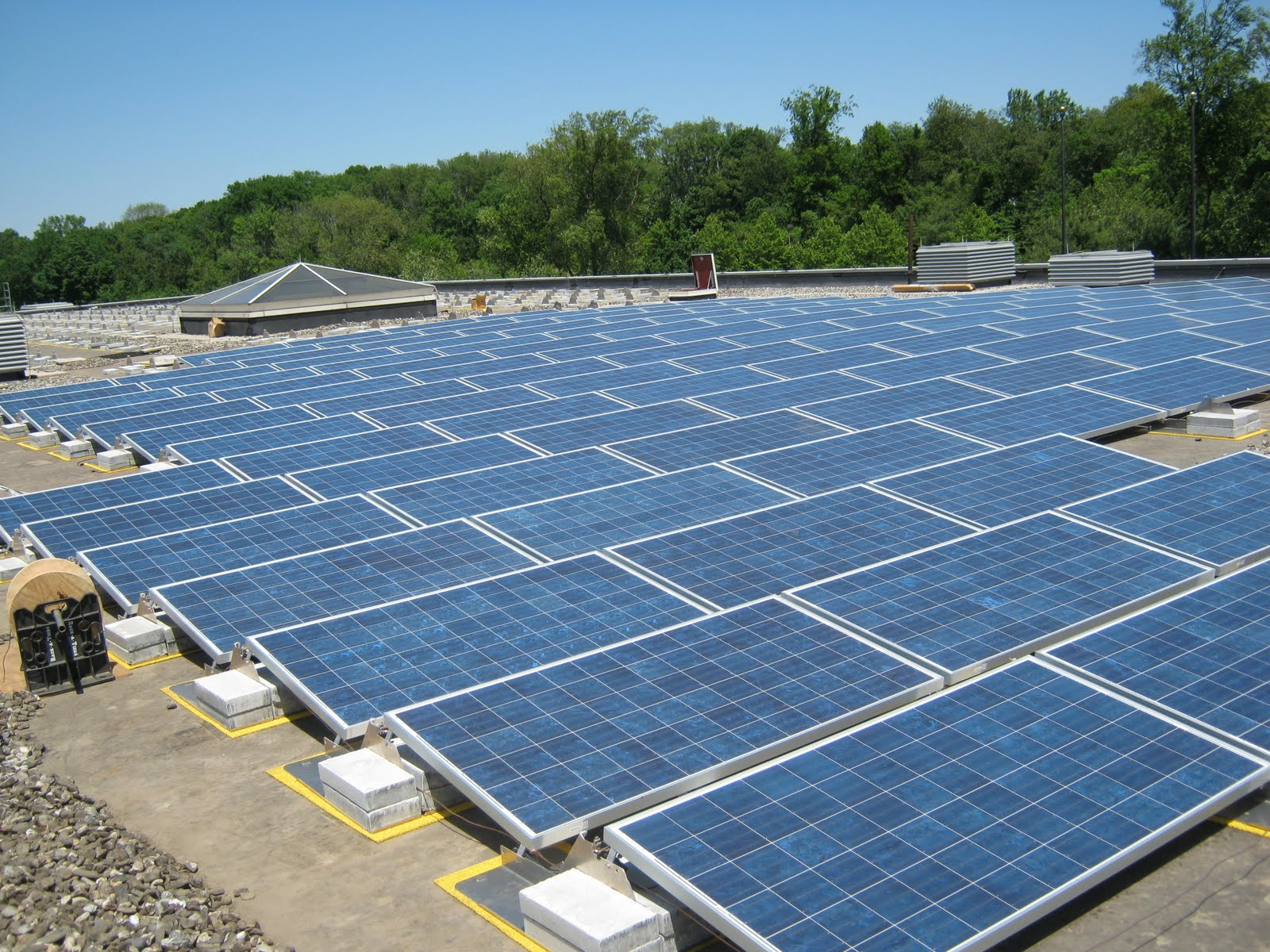 Solar panels have been installed on the roof of Ansonia High School ...