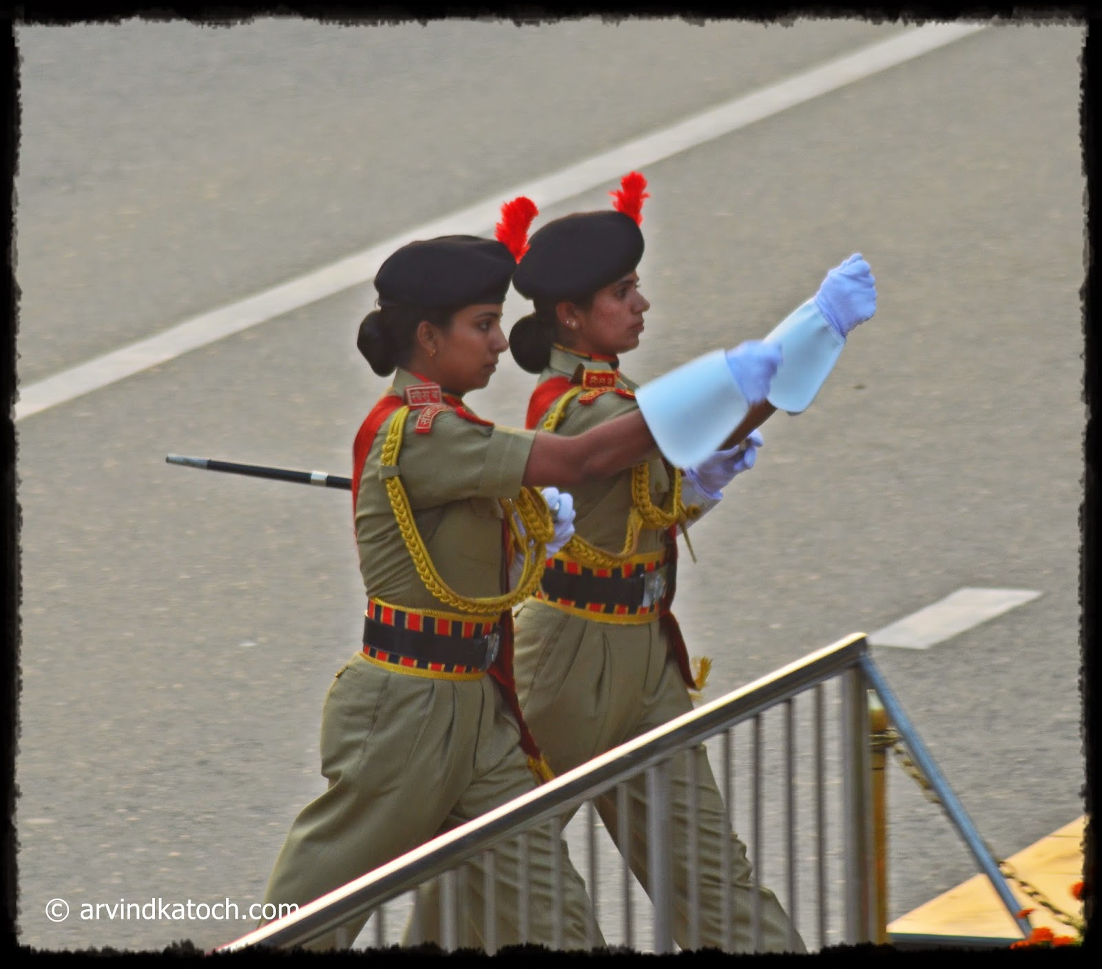 Female Perssonnels, BSF, Wagah Border,