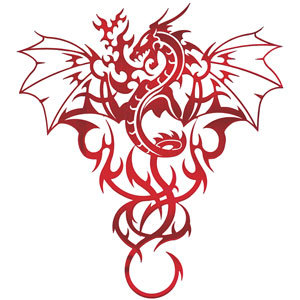 Tribal Dragon Tattoos