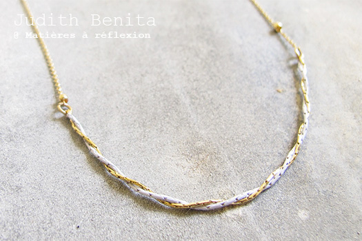 SOLDES Judith Benita collier bleu ciel Bliss