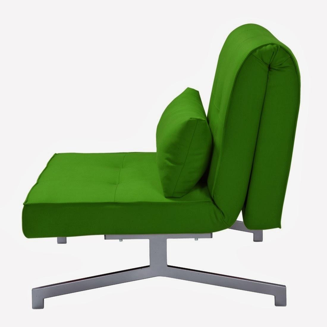fauteuil lit vert