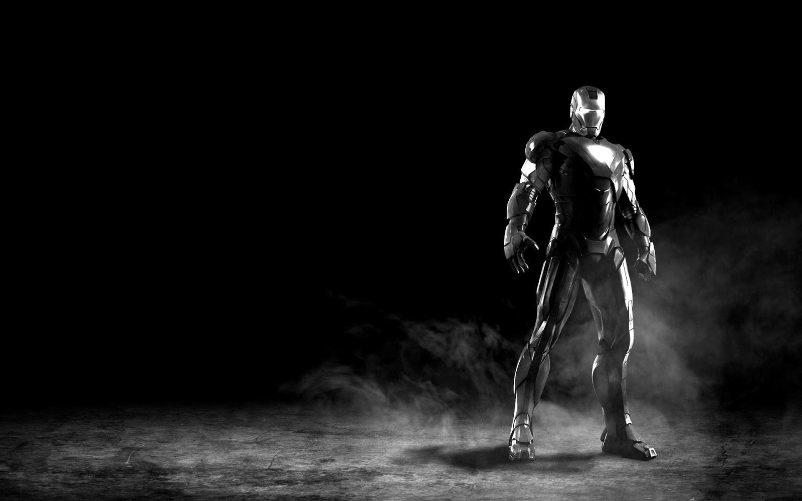 HD Iron Man 3 black and white Photo