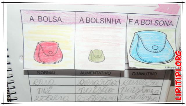 Atividade Compreensão de Texto A bolsa, a bolsinha e a bolsona