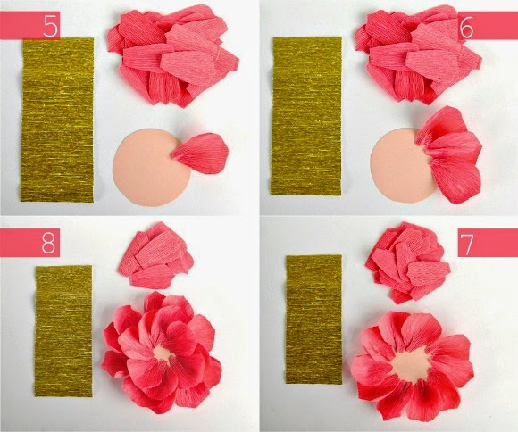 Origami Flower Using Crepe Paper Comot