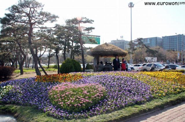 Flores en el parque de Yeouido