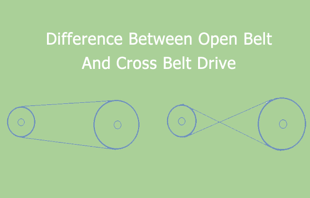comparison of open belt drive and cross belt drive