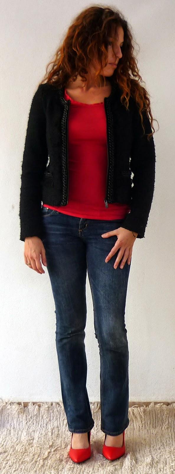 chaqueta chanel negra