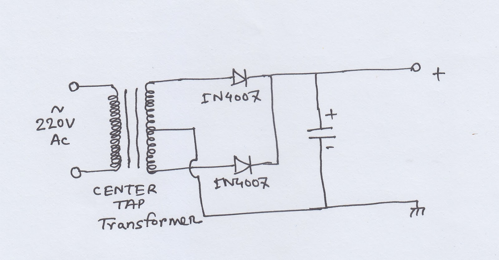 Scavengers Blog Ac To Dc Circuit 1 Hobby Electronics Capacitor In A There Is 9v Battery Series With The Next Thing Capacitors Charge When They Are Connected Supply Discharge Cut Off So This