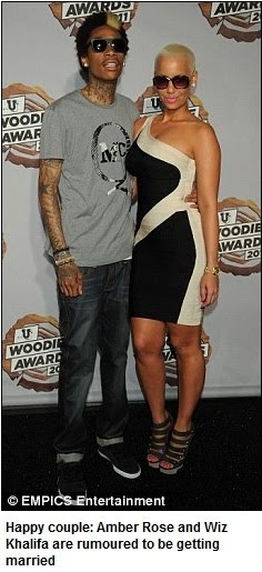 amber rose and wiz khalifa walking. But it looks as though Amber