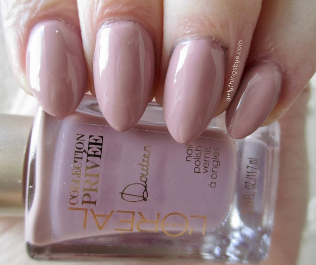 L'Oreal Collection Privee Doutzen Nude #600, swatch, nail polish