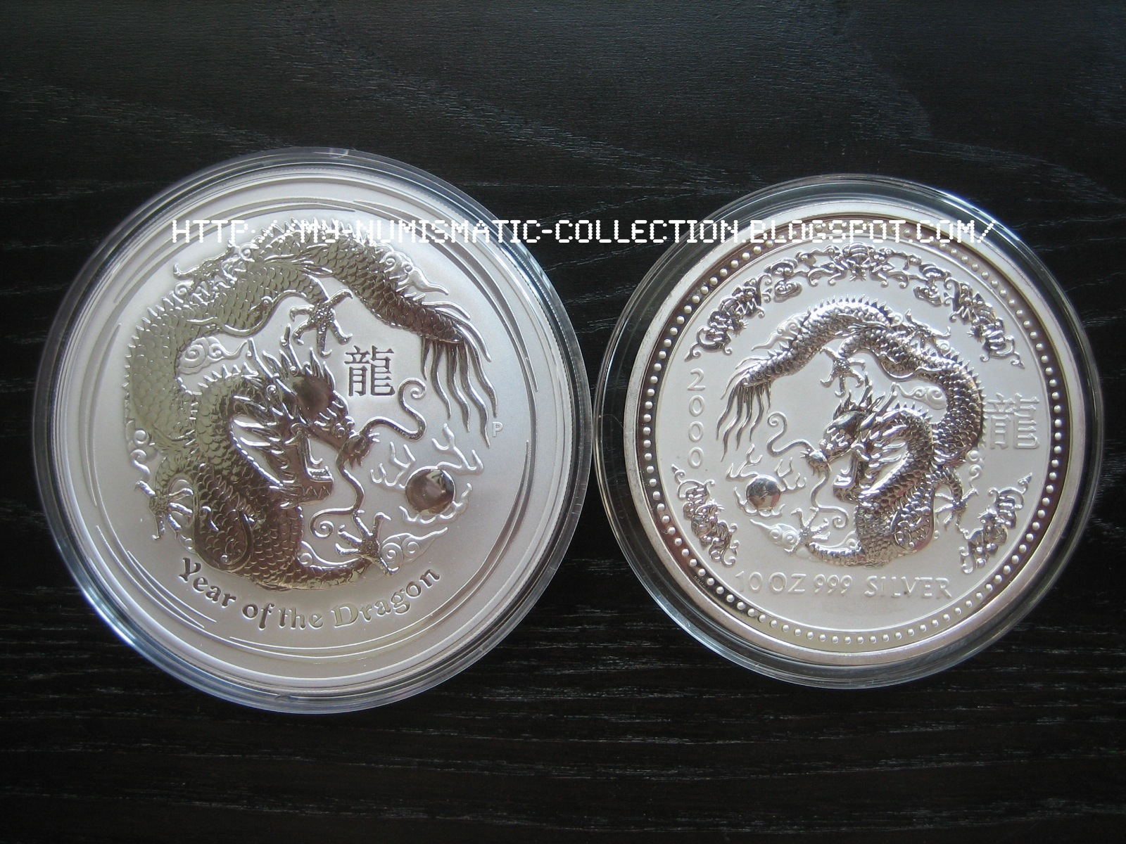 Numismatic Collection 2012 Year Of Dragon 10 Oz