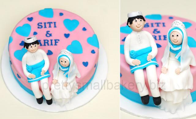 kek perkahwinan - kek pertunangan