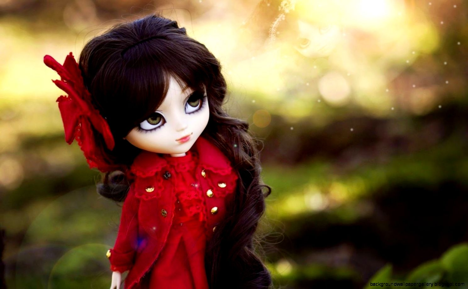 Cute Girl Red Hair Dolls Wallpaper