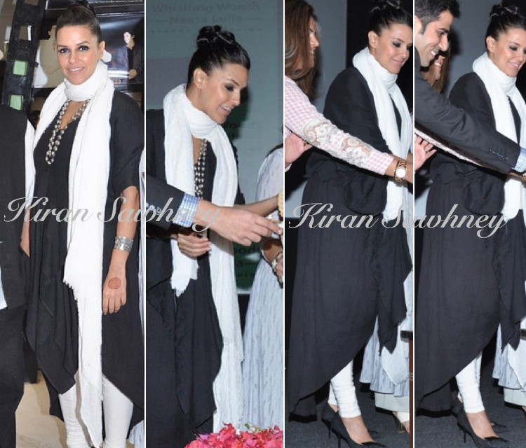 Neha Dhupia at Subhash Ghai's Birthday at Whistling Woods