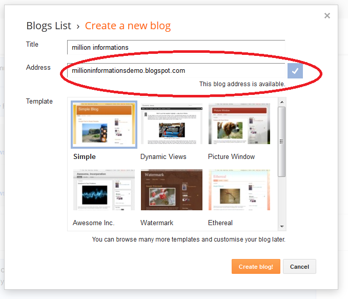 create your own blog in 5 steps
